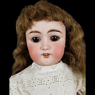 "Antique Doll German My Sweetheart 101 BJ & Co 24"" Original Body Brown Glass Eyes"