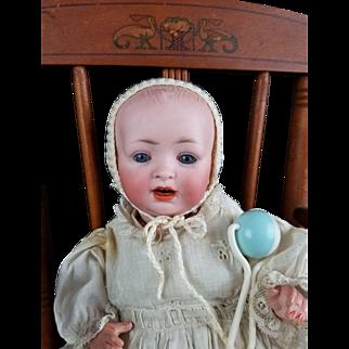 """Antique Doll German Hertel Schwab Kestner 151 Solid Dome Bisque Head 10"""" CUTE!"""