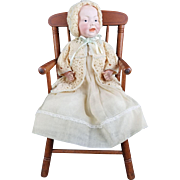 "Antique Doll Baby Kestner RARE 159 Character Solid Dome Head Kaiser Type 14"" Germany"