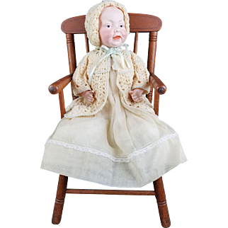 """Antique Doll Baby Kestner RARE 159 Character Solid Dome Head Kaiser Type 14"""" Germany"""