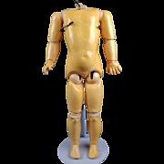 "Antique German Kestner Doll Body Marked Jointed Composition Org Finish HTF 15"""