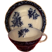 Touraine by Henry Acock & Co. Flow Blue Cup and Saucer Vintage!!!