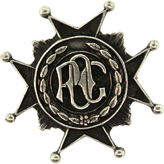 Vintage Rare 1955 POC Porsche Owners Club Sterling Badge Pin