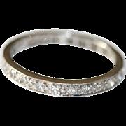 Vintage Art Deco 18 carat white gold diamond eternity set 0.60 tcw size 7.5- circa 1930