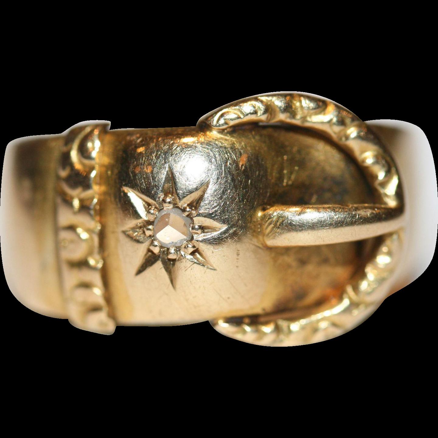 Fine Antique Victorian 18 Carat Gold Rose Cut Diamond