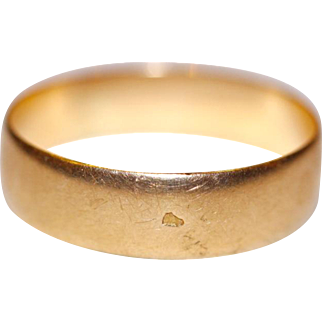 Fine Antique French 18 carat rose gold wedding band ring size 5.5 - circa 1900