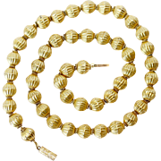 SPECIAL Antique Victorian 18 Carat Gold Bead Necklace