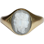 Antique Georgian 18th Century Gryllos Cameo Gold Ring