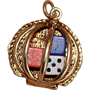 1960's Gambling Lucky Dice Charm