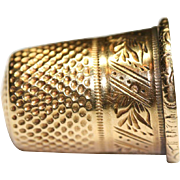 Fine Antique French Victorian period 18 carat yellow gold thimble - circa 1880, hallmarked with eagle head