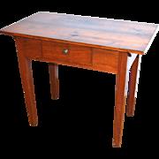 American Antique Tavern Table, Yellow Pine, Walnut 19th Century