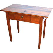 American Antique Tavern Table, Yellow Pine, Walnut 19th Century