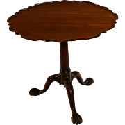 American Kittinger Chippendale style Mahogany tilt top Tea Table