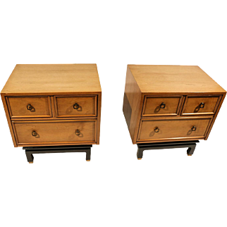 American of Martinsville Nightstands pair Asian style