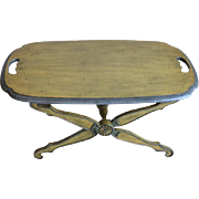 American Stained Wood and Painted Low Tray Top Table