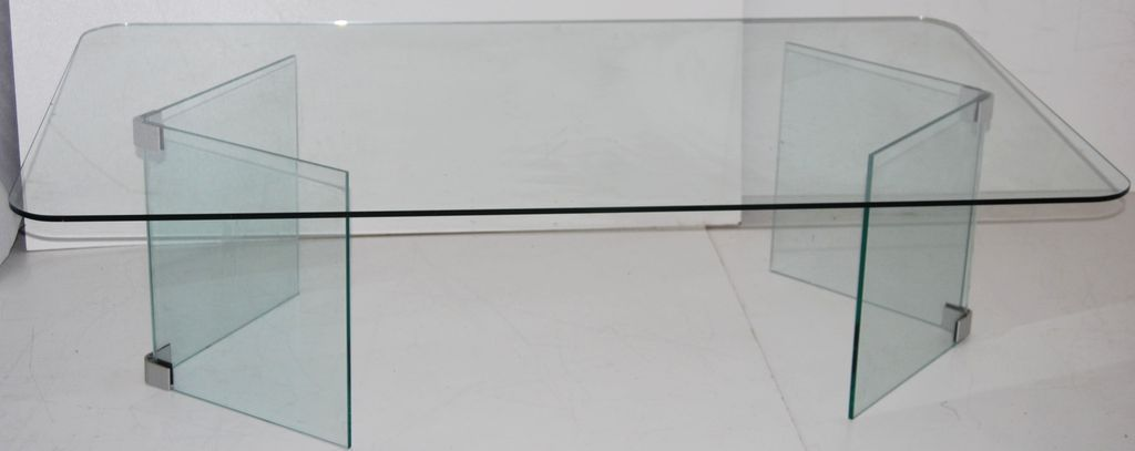 mid century, modern glass coffee table, hollywood regency, pace
