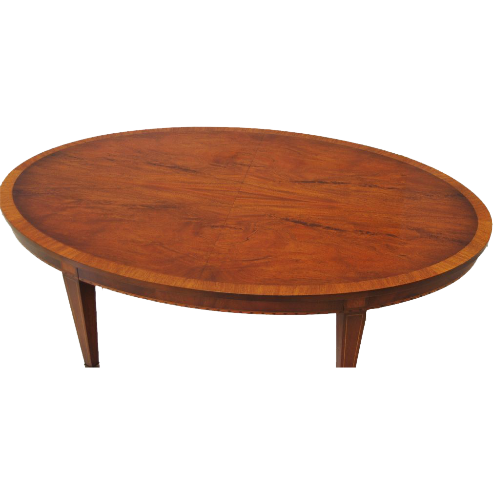 Inlaid Coffee Table In The Federal Style From Marykaysfurniture On Ruby Lane