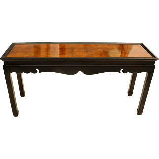 Burlwood Console Table Asian Oriental
