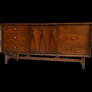Mid-Century Broyhill Walnut Credenza Dresser