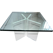 A Mid Century Modern Lucite and Glass coffee Table