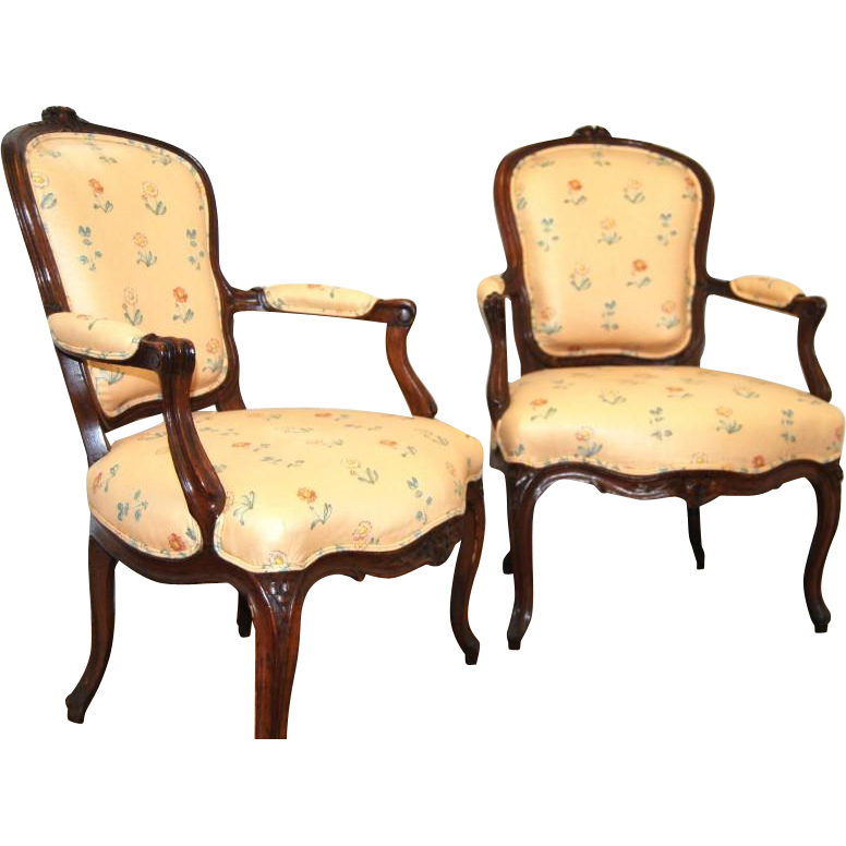 Pair of french 19th century louis xv style chairs from marykaysfurniture on ruby lane - Louis th chairs ...