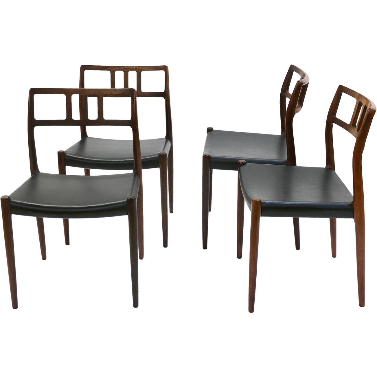 Danish Modern Rosewood Niels Moller 79 Dining Chairs from