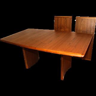 Danish Modern Teak Expandable Dining Table