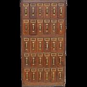 Antique Billing Cabinet Five Tier