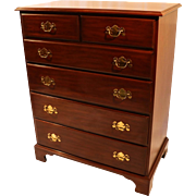 Henkel Harris Tall chest cherry dresser