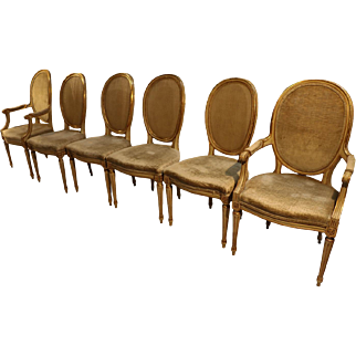 John Widdicomb French Provincial Louis XVI Style Dining Chairs