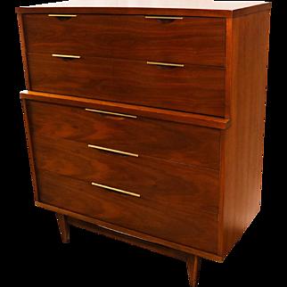Kent Coffey Mid Century Modern Tableau Highboy Dresser