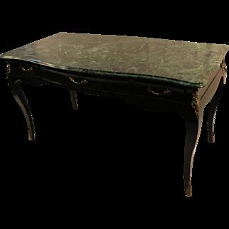Louis XV Style Bureau Plat Marble French Writing Desk