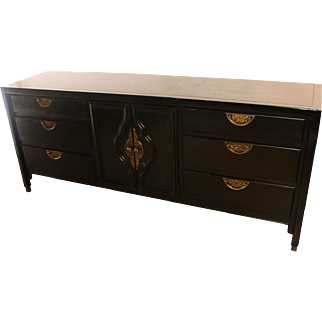 Mid Century Hollywood Regency dresser Century Furniture James Mont Style