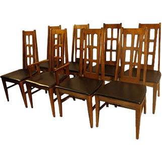 Mid Century Modern Bassett Dining Chairs eight