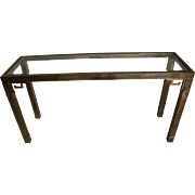 Mid Century brass sofa or console table by Mastercraft furniture
