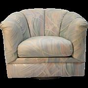 Mid Century Modern Precedent Swivel Club Lounge tub Chair Kagan Baughman Era