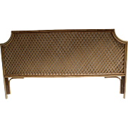 Vintage Quality King Size Bamboo Rattan Headboard