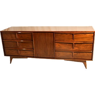 Mid Century Modern Sculpted Dresser Sideboard