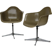 Pair of Charles Eames for Herman Miller Bucket Swivel Chair