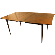 Mid Century Modern American of Martinsville Walnut Dining Table