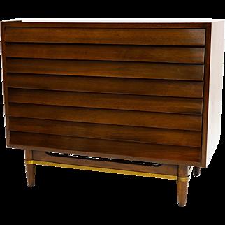 "Merton Gershun for American of Martinsville Walnut Dresser ""Dania"""