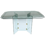Pace Collection Style Glass Dining Table