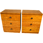 Pair Mid Century Dressers Milo Baughman Style Lane Furniture