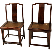 Pair Ming Dynasty style 19 century Chinese Chairs