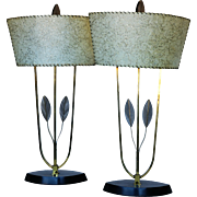 Pair of Majestic Eccentric American Mid Century Lamps