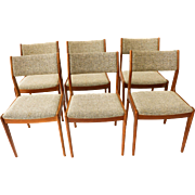 Gorgeous Teak Scandinavia Danish Modern Dining Chairs six