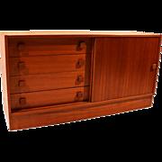 Small Danish Modern Teak Sideboard