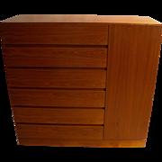 Danish Modern Teak Storage Gents Chest Dresser