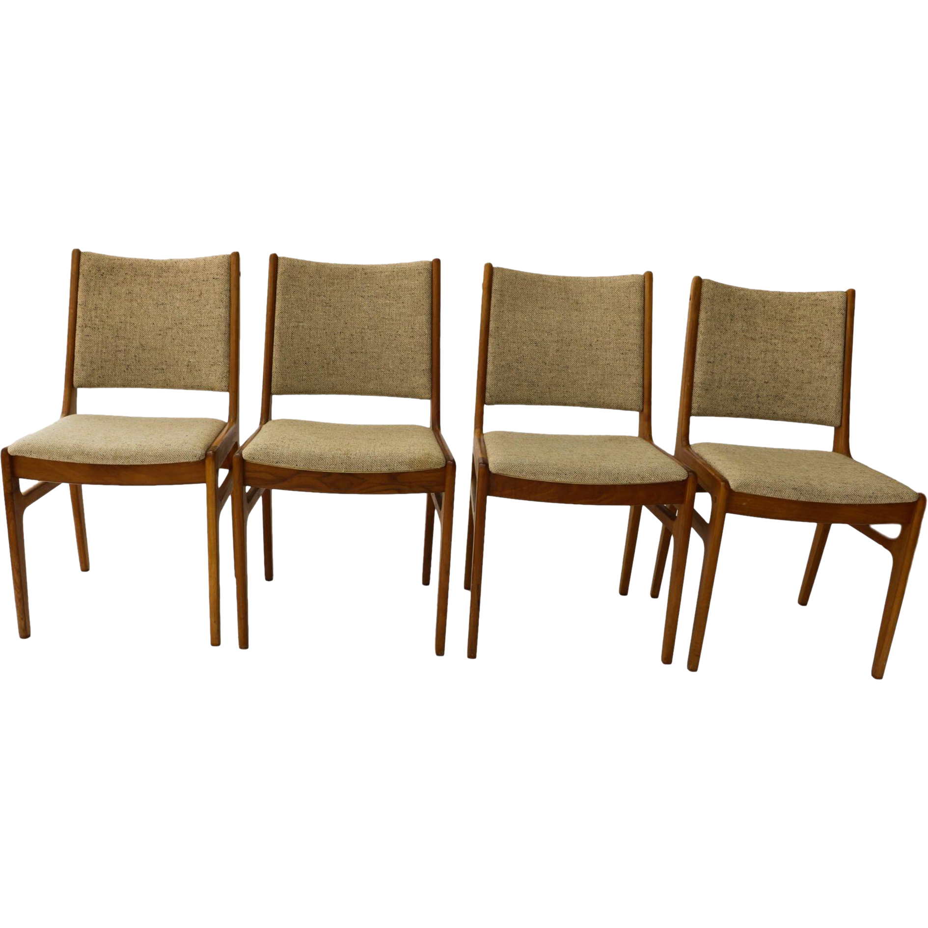 Six harry ostergaard danish teak dining chairs for randers at 1stdibs