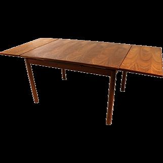 Danish Modern Teak Extendable Dining Table